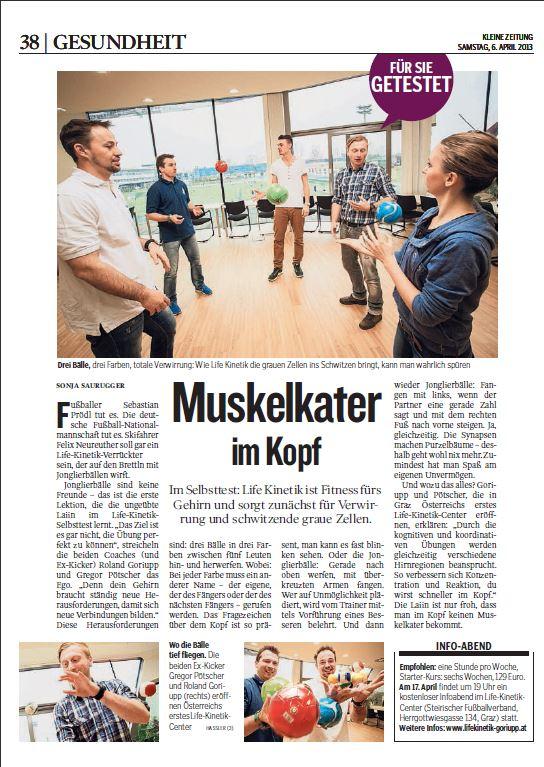Bericht Kleine Zeitung 06042013